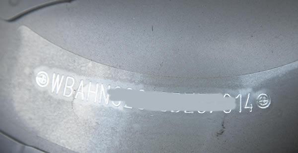 Bmw Z4 Vin Plate Location